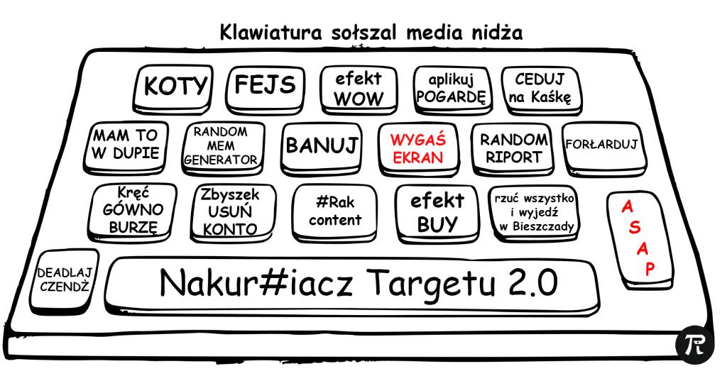 klawiatura social media ninja